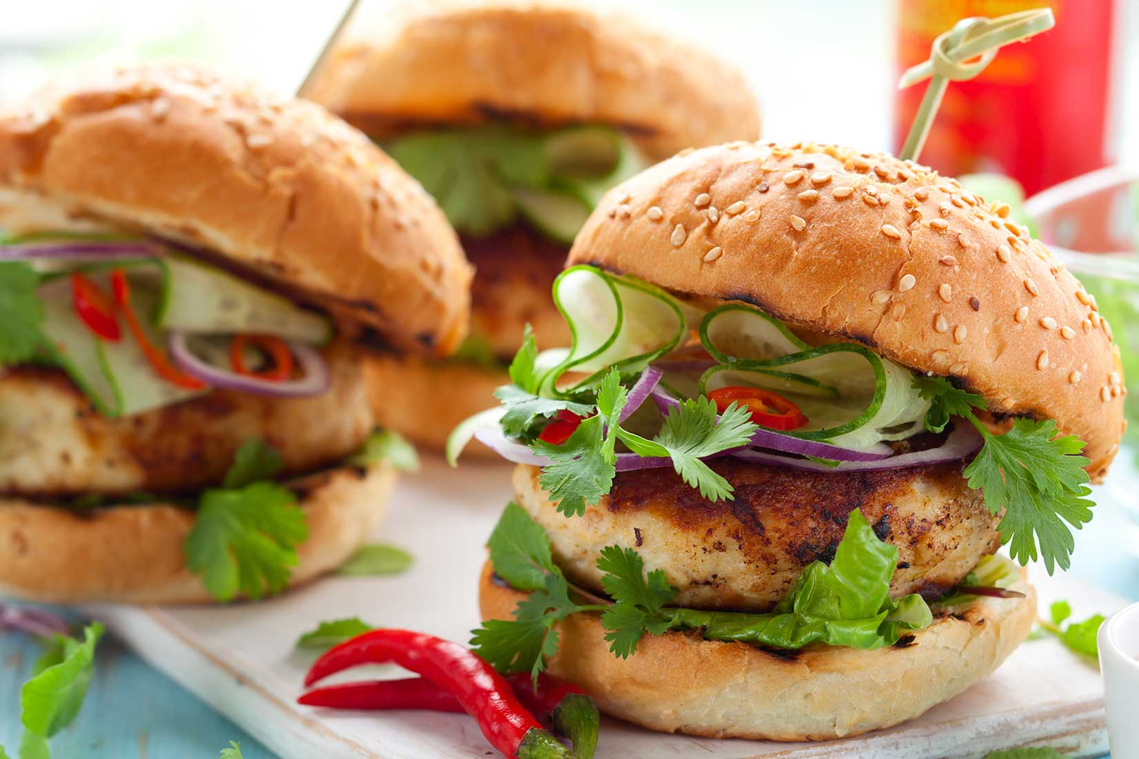 turkey burger with vegetables