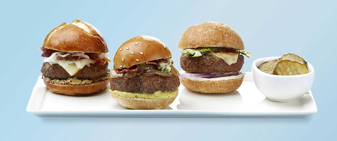 Three Burger Sliders