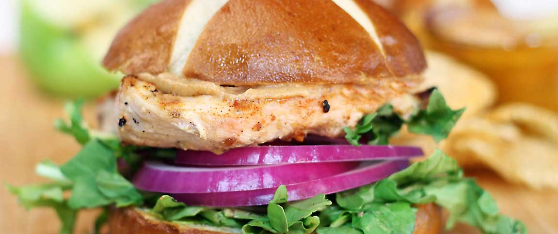 Chicken and Beer Cheese Sandwich