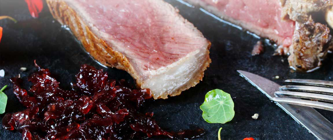 Beef Tenderloin with Red Onion Marmalade