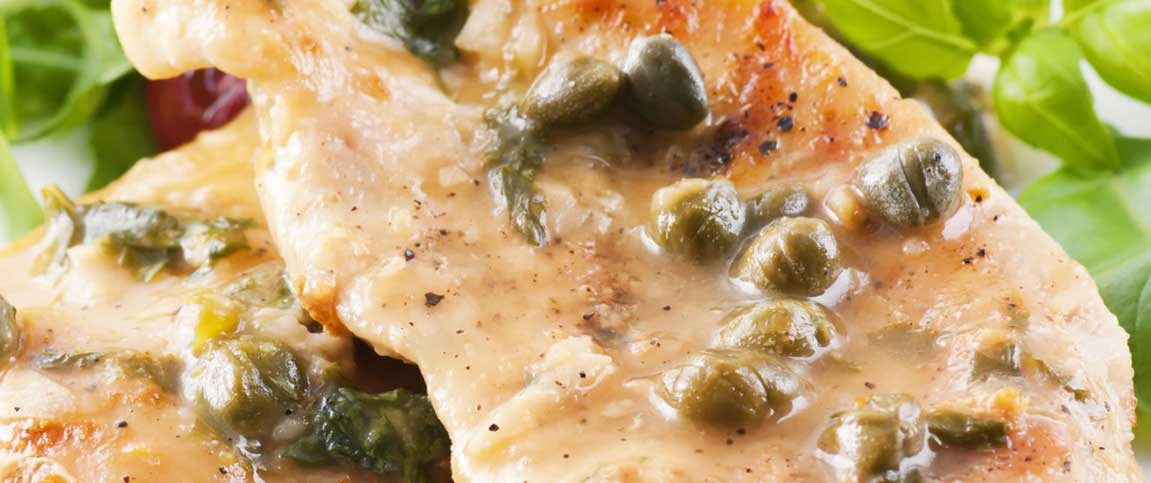 Chicken with Lemon Sauce and Capers