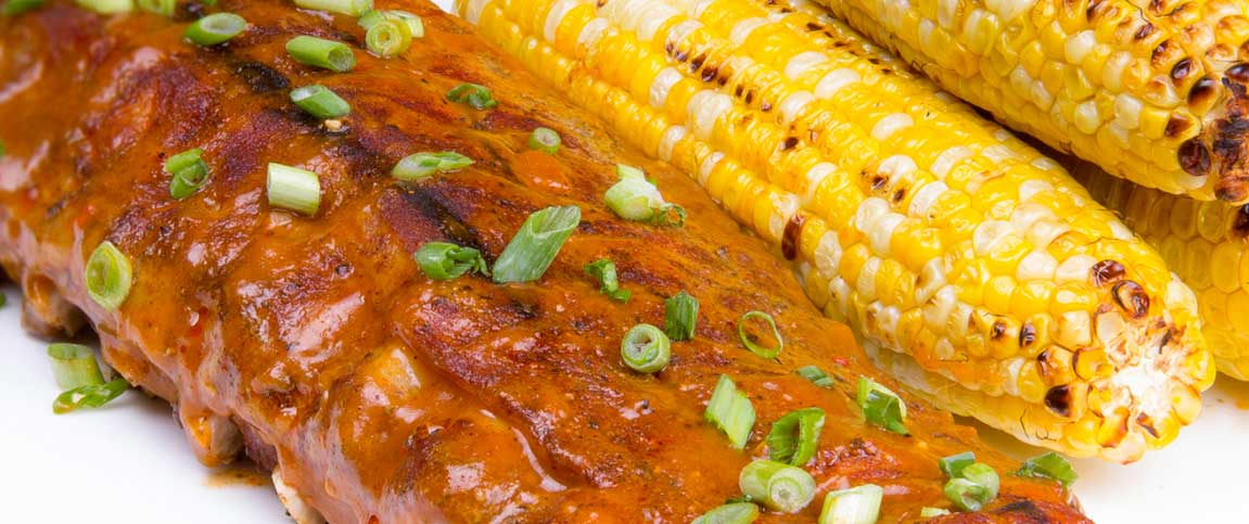 Chipotle BBQ Ribs with Roasted Corn