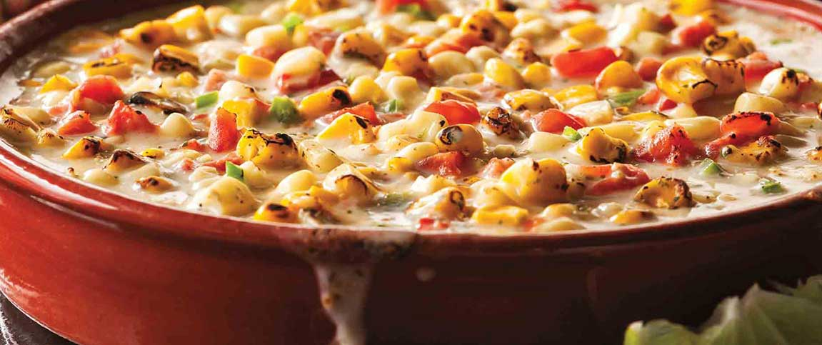 Roasted Corn and Jalapeno Queso