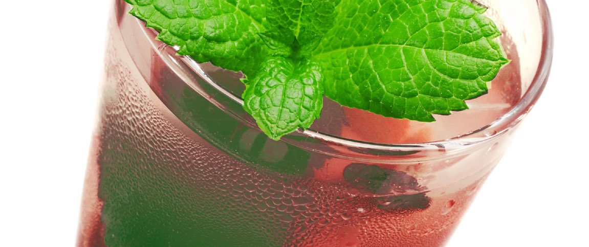 Cranberry Mint Spritzer