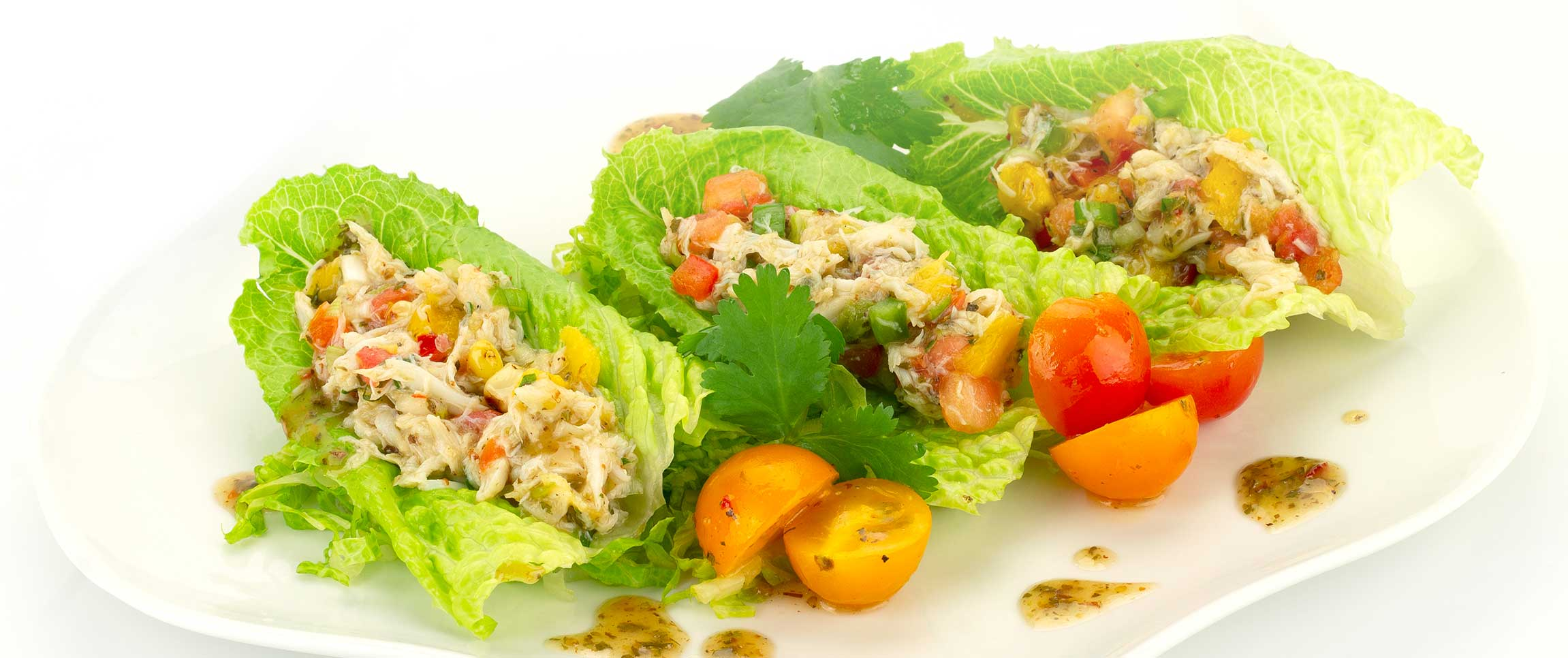 Crab and Avocado Lettuce Tacos