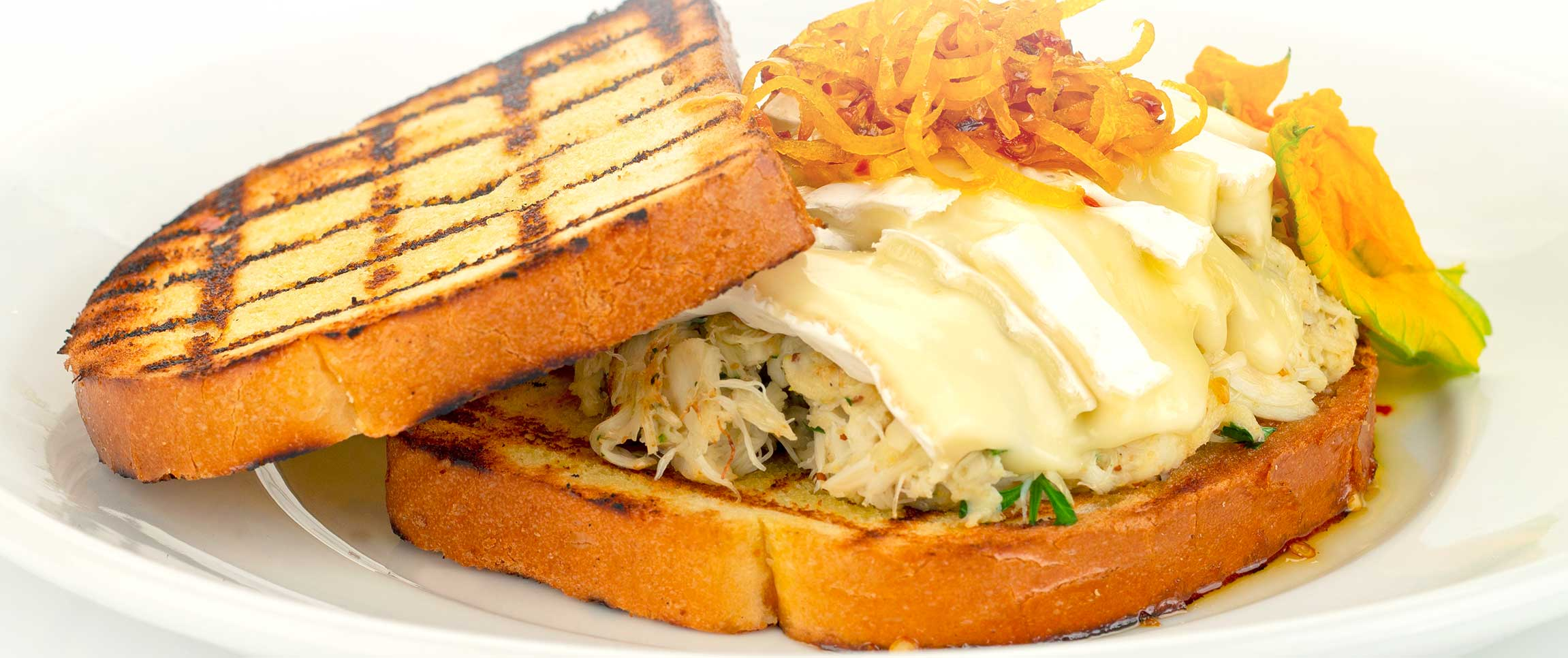 Crab Meat and Melted Brie Sandwich