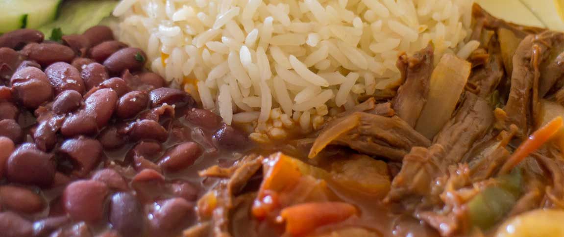 Rice, Beans, and Meat Plate