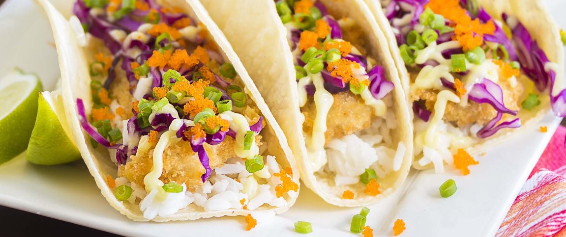 Cod Tacos with Citrus Herb Slaw