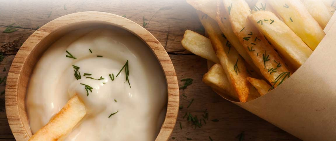 French Fries with Garlic Aioli Dipping Sauce