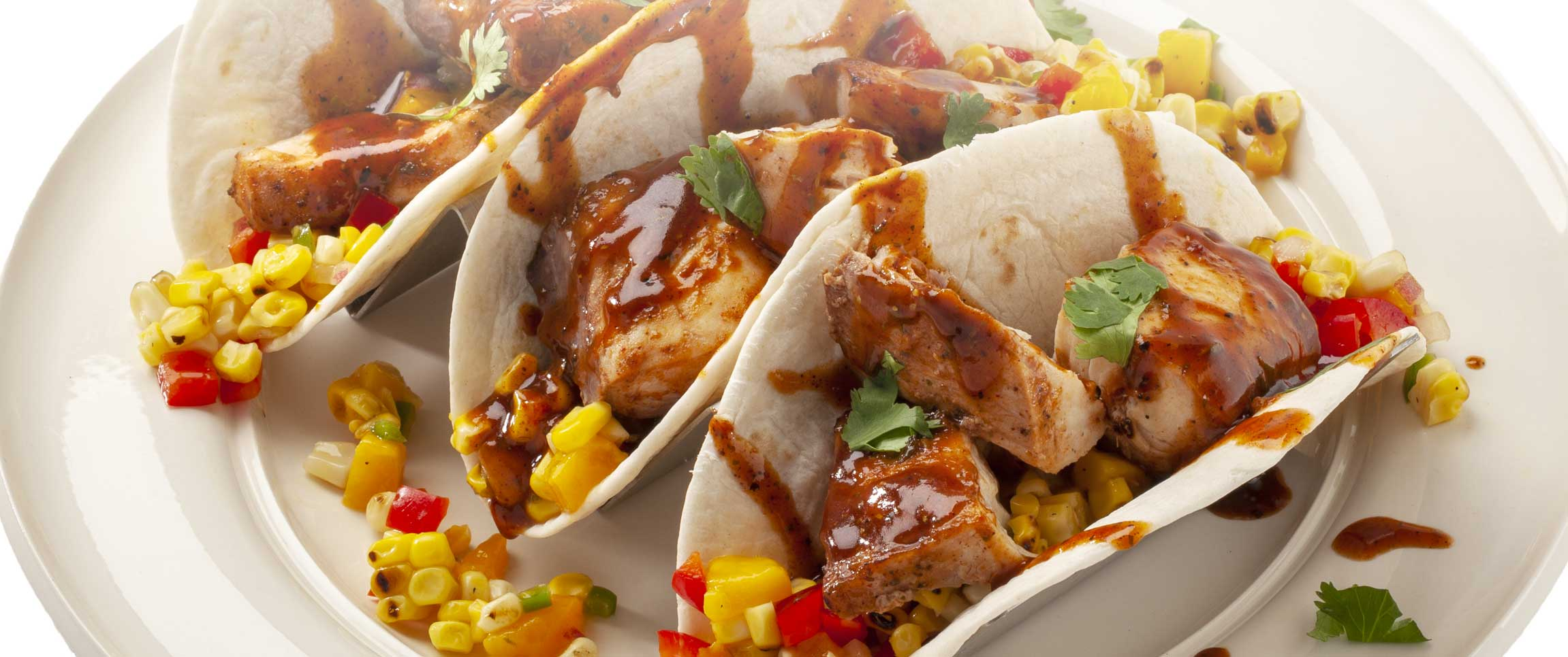 Fish Tacos with Jerk Sauce and Corn Mango Salsa