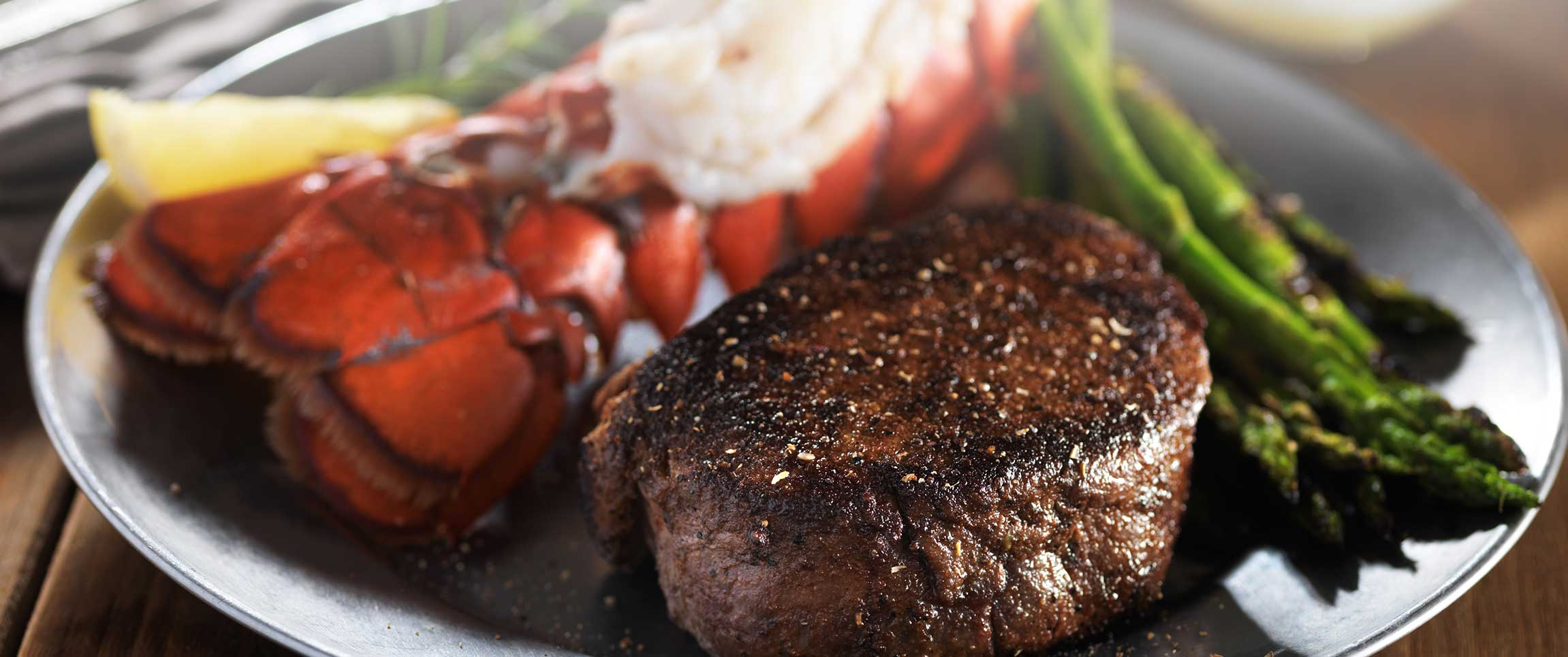 Lobster Steak with Filet of Braveheart Beef