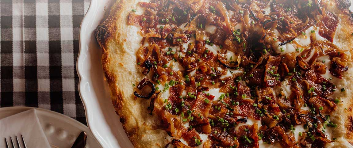 Bacon and Provolone Pizza