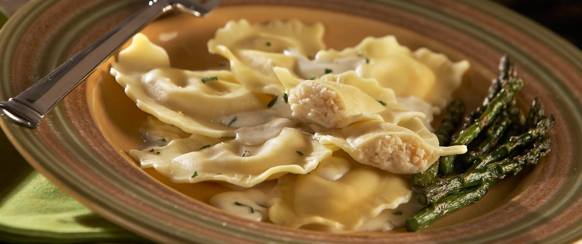 Pecorino Cheese and Pear Ravioli
