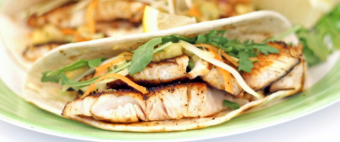 Red Snapper Tacos with Pineapple Salsa