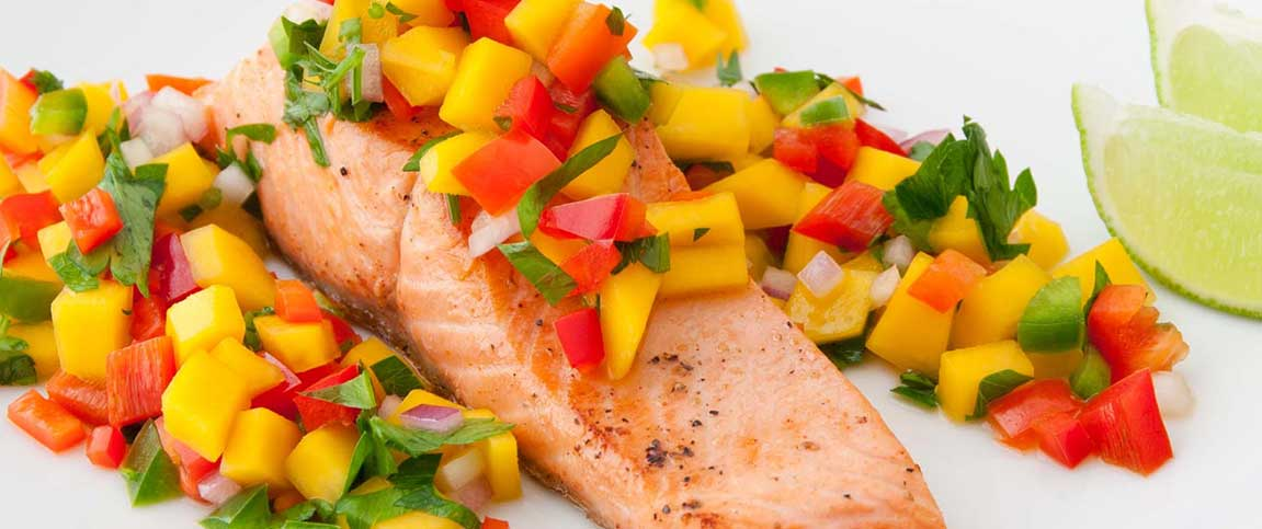 Seared Salmon with Mango Salsa