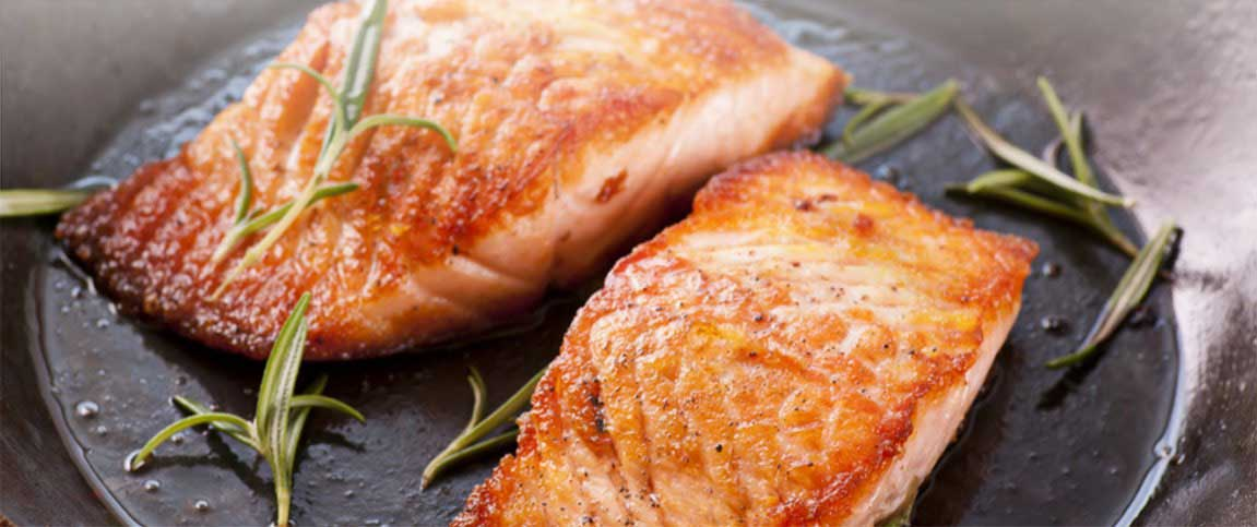 Pan Seared Salmon with Pure Maple Syrup