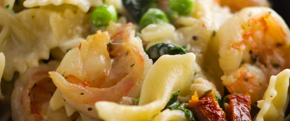 Shrimp and Tasso Pasta