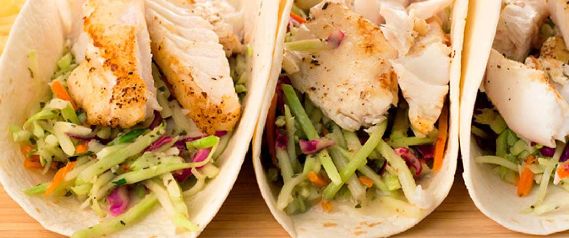 Snapper Street Tacos with Citrus Coleslaw