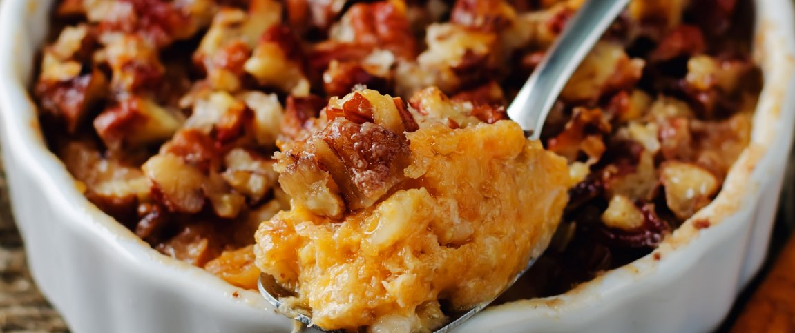Squash Casserole with Pecan Topping