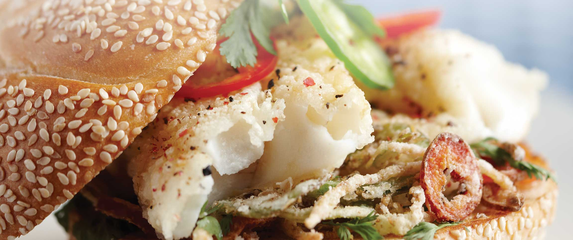 Salt and Pepper Alaska Cod Sandwich