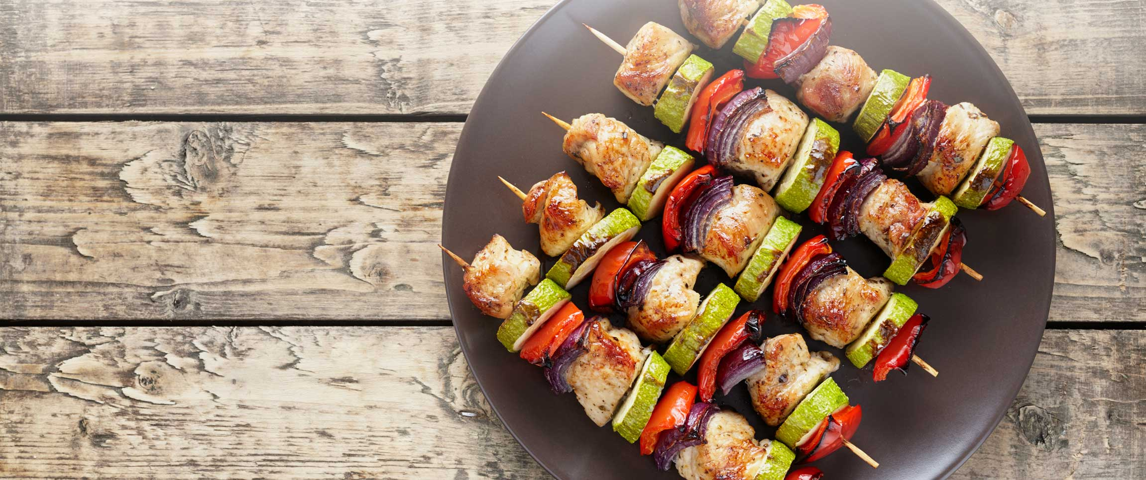 Grilled Turkey and Vegetable Shish Kabob