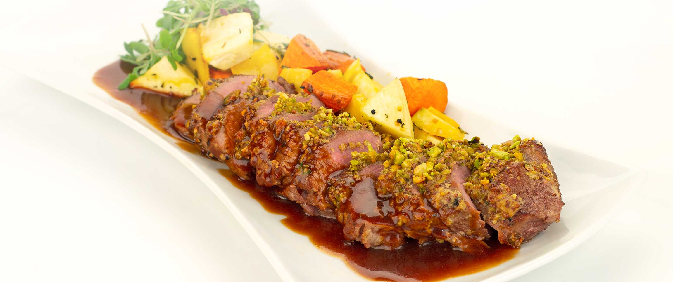 Pistachio Crusted Lamb