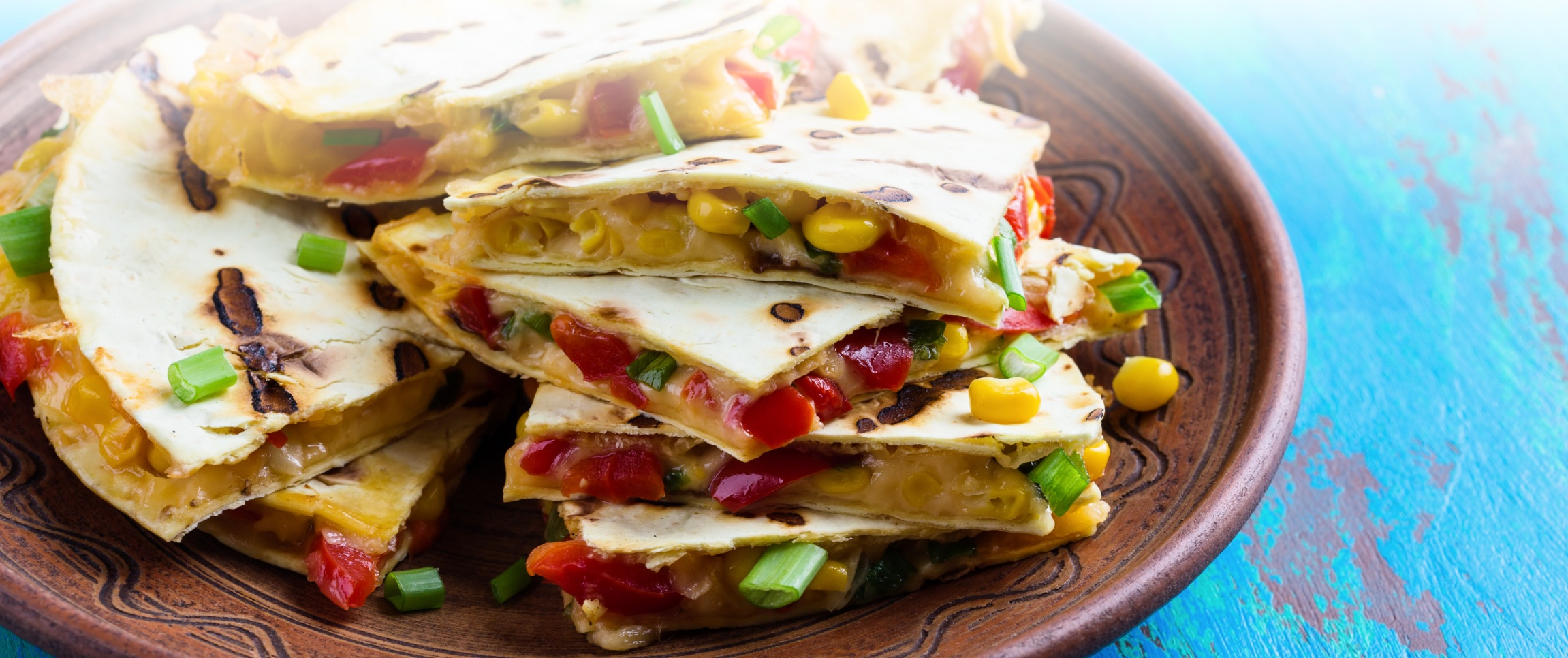 Grilled Pepper Quesadillas
