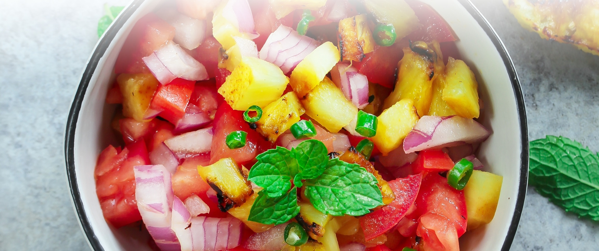 Grilled Pineapple and Lime Salsa
