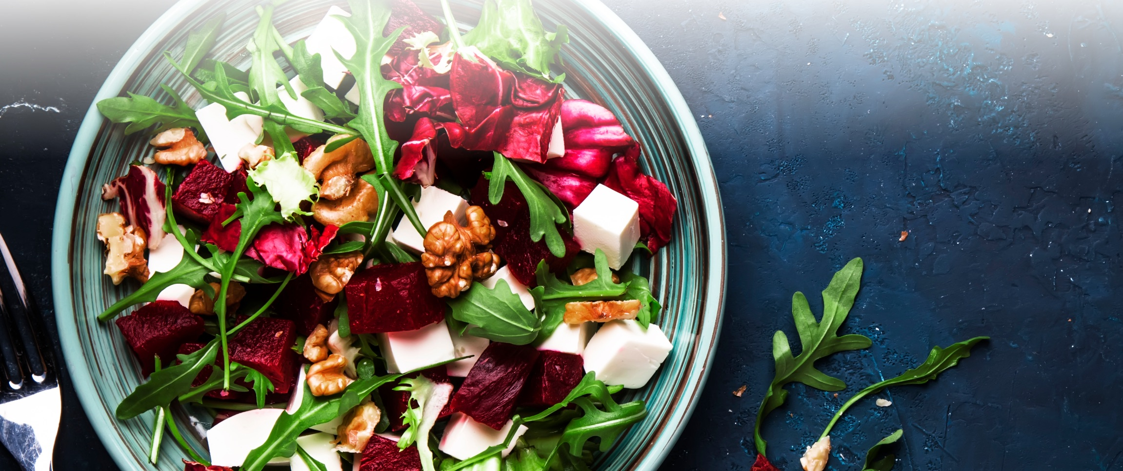 Grilled Radicchio Salad with Blue Cheese Crumbles