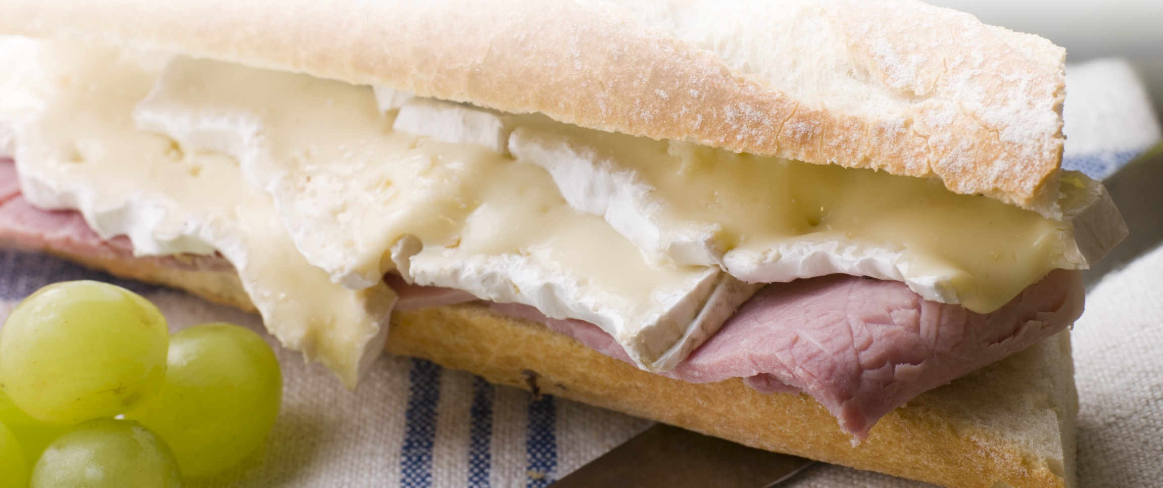 Smoked Ham and Brie Baguette