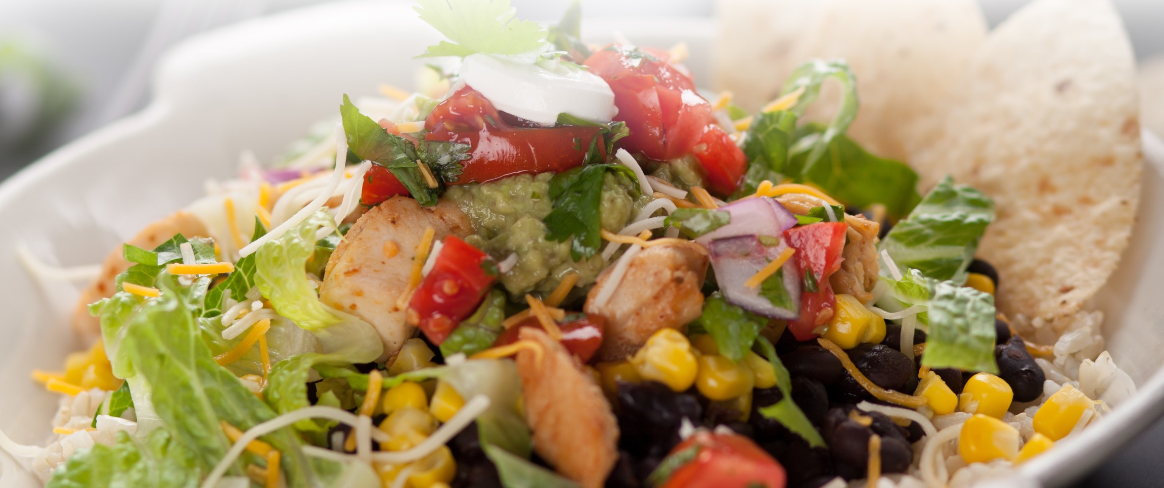 Southwest Style Salad with Tortilla Chips