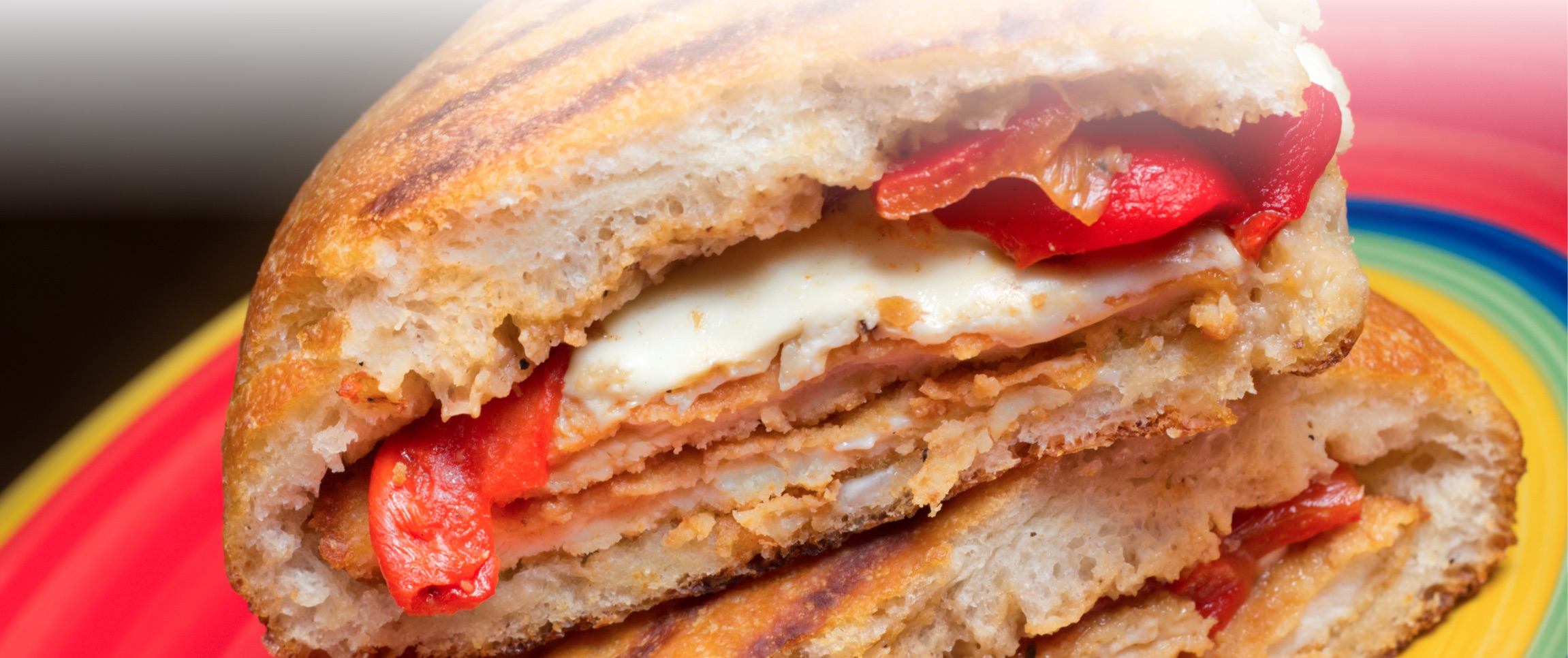 Chicken and Roasted Red Pepper Panini