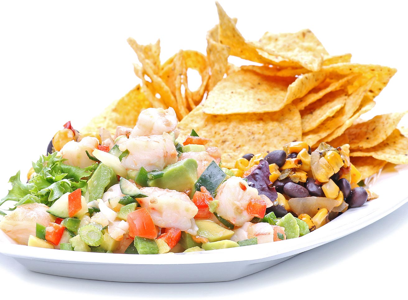 Avocado Shrimp Salsa with Tortilla Chips