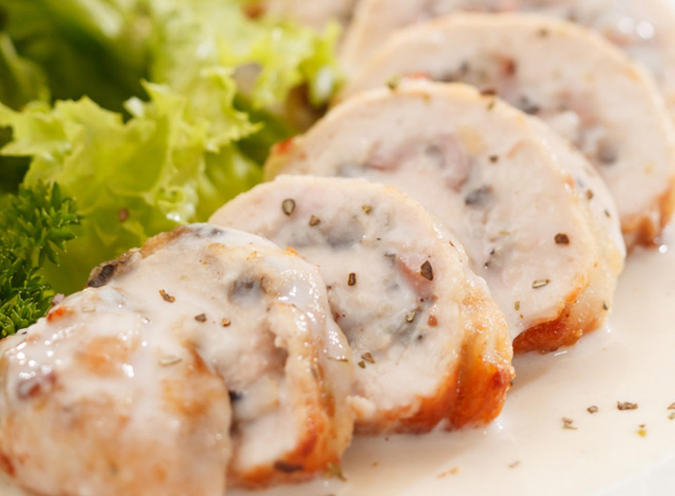 Baked Chicken Rolls with Cheese