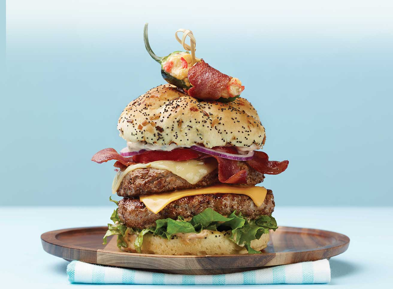 BLT Mega Turkey Burger