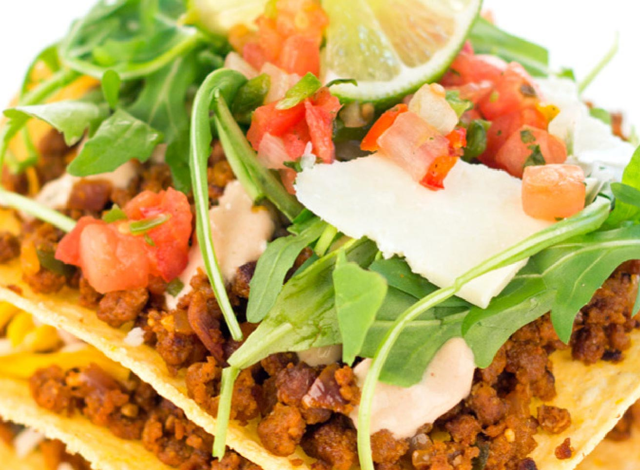 Tostada with Chorizo and Chipotle Salsa