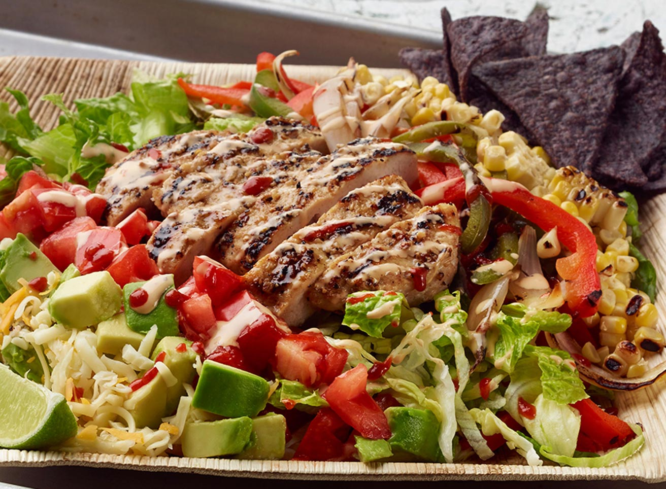 Turkey Burger Fajita Salad